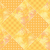Seamless patchwork style pattern Stock Images