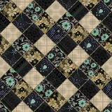 Seamless patchwork style retro pattern Royalty Free Stock Photo