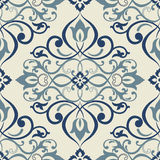 Seamless patchwork tile with Victorian motives vector illustration