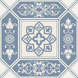 Seamless patchwork tile with Victorian motives Stock Image