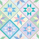 seamless patchworkmodelltäcke Royaltyfri Fotografi