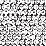 Seamless patern of people's faces. Royalty Free Stock Photo