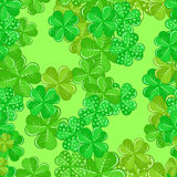 Seamless Patrick's Pattern With Shamrocks Royalty Free Stock Photography