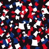 Seamless Patriotic Confetti Pattern Stock Images