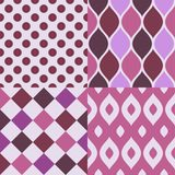 Seamless pattens. Patterns collection with geometric ornament Stock Images