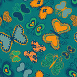 Seamless patter of butterflies Stock Image