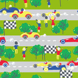 Seamless patter with cars. Can be used for textile, kids clothes Stock Image