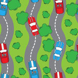 Seamless patter with cars. Can be used for textile, kids clothes Stock Images