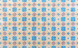 Seamless patter made of traditional azulejos tiles. Traditional azulejos tiles on facade of old house, Algarve, Portugal Stock Images