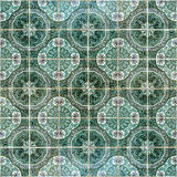 Seamless patter made of traditional azulejos tiles Royalty Free Stock Images