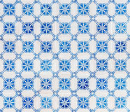 Seamless patter made of traditional azulejos tiles. Traditional azulejos tiles on facade of old house, Algarve, Portugal Royalty Free Stock Images