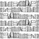 Seamless patterh with old books Royalty Free Stock Photos
