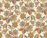 Seamless Pattern-043. Yellow classic style Seamless floral background Stock Images