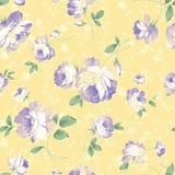 Seamless Pattern-064. Yellow background rose Seamless Pattern vector illustration