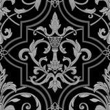 Seamless pattern. White on black Stock Photo
