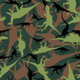 Seamless pattern. Dinosaur camouflage seamless patten. Vector illustration Royalty Free Stock Image