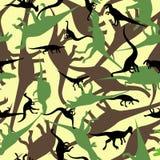 Seamless pattern. Dinosaur camouflage seamless patten. Vector illustration Stock Photos