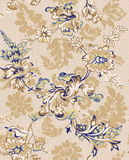 Seamless pattern 1105-007. Textile paisley seamless background pattern Royalty Free Stock Images