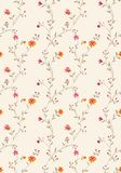 Seamless pattern 1105-013. Flower paisley seamless background pattern Royalty Free Stock Images