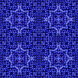 Seamless pattern. Seamless blue pattern of repeating symmetric tracery Stock Photography