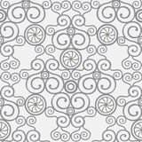Seamless pattern. Seamless curly pattern in different shades of grey Royalty Free Stock Images