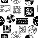 Seamless pattern. Retro repetition pattern in fashion trend colors Stock Images