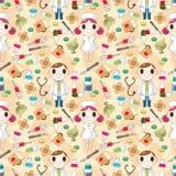 Seamless pattern. Seamless doctor pattern, illustration Royalty Free Stock Photo