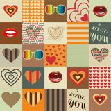 Seamless pattern. In style of a retro Stock Images