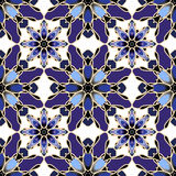 Seamless pattern. Seamless blue mosaic pattern for your design Stock Image