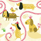 Seamless pattern. With cute dogs Royalty Free Stock Photo