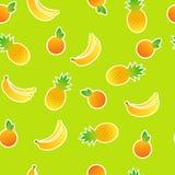 Seamless pattern. Of stylized fruit royalty free illustration