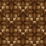 Seamless pattern. Relief wooden mosaic, seamless pattern Stock Photography