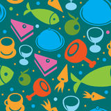Seamless pattern. With food - vector illustration royalty free illustration