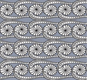 Seamless pattern. Seamless grey pattern with doodles Stock Photography