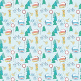 Seamless pattern. Seamless background with cars and bicycles Royalty Free Stock Image