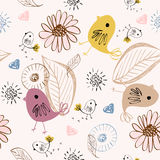 Seamless pattern. Sweet babies doodle seamless pattern. Babies background Stock Photo