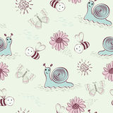Seamless pattern. Sweet babies doodle hand draw seamless pattern Royalty Free Stock Photo