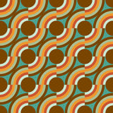 Seamless pattern. Vintage vector background in blue and brown stock illustration
