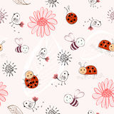 Seamless pattern. Sweet babies doodle hand draw seamless pattern Stock Photography