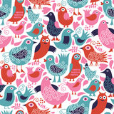 Seamless pattern. Seamless vector pattern with birds Stock Image
