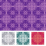 Seamless Pattern. With star, angular, and square shapes Royalty Free Illustration