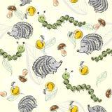 Seamless pattern. Sweet babies doodle seamless pattern. Pastel background Stock Photos