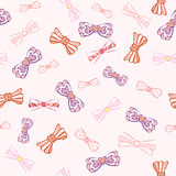 Seamless pattern. Cute seamless pattern  for girl with bows Royalty Free Stock Photos