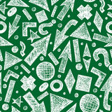 Seamless pattern. Vector seamless pattern with sketchy objects Stock Images
