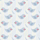 Seamless pattern. With birds and feather Stock Photography