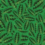 Seamless pattern. With green leaves Royalty Free Stock Photos