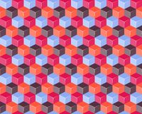 Seamless Pattern with 3d cubes Stock Photo