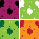 Seamless pattern. Bright seamless pattern with butterflies Royalty Free Stock Photography