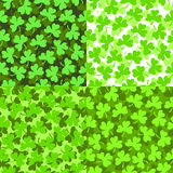 Seamless pattern. Seamless St. Patrick's pattern with clovers Royalty Free Stock Photo