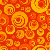 Seamless pattern. Vector background, with seamless circles, warm colors Stock Photography